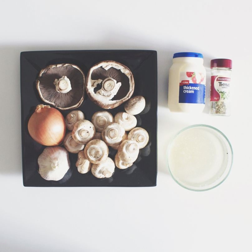 Classic Cream of Mushroom Soup Ingredients
