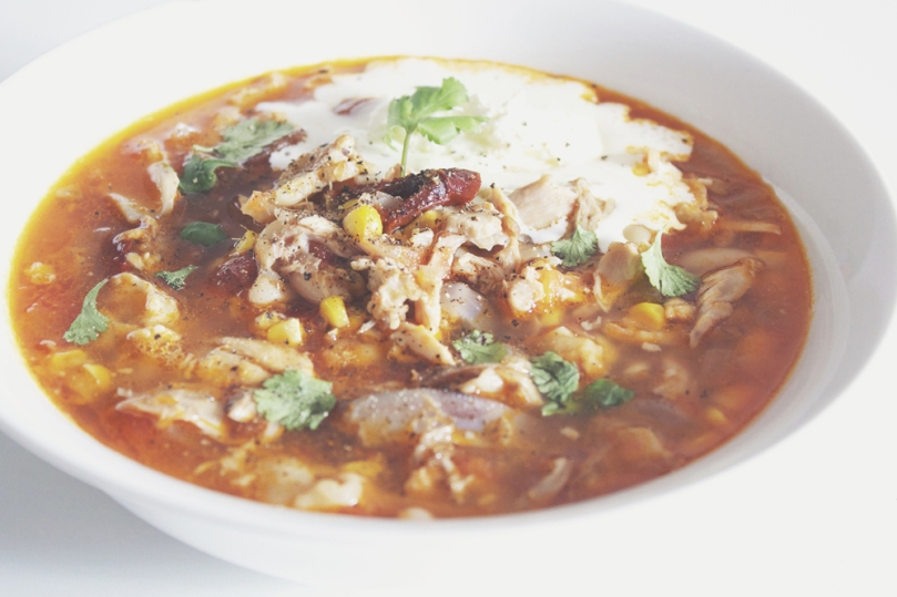 Hearty Chicken Chipotle Soup