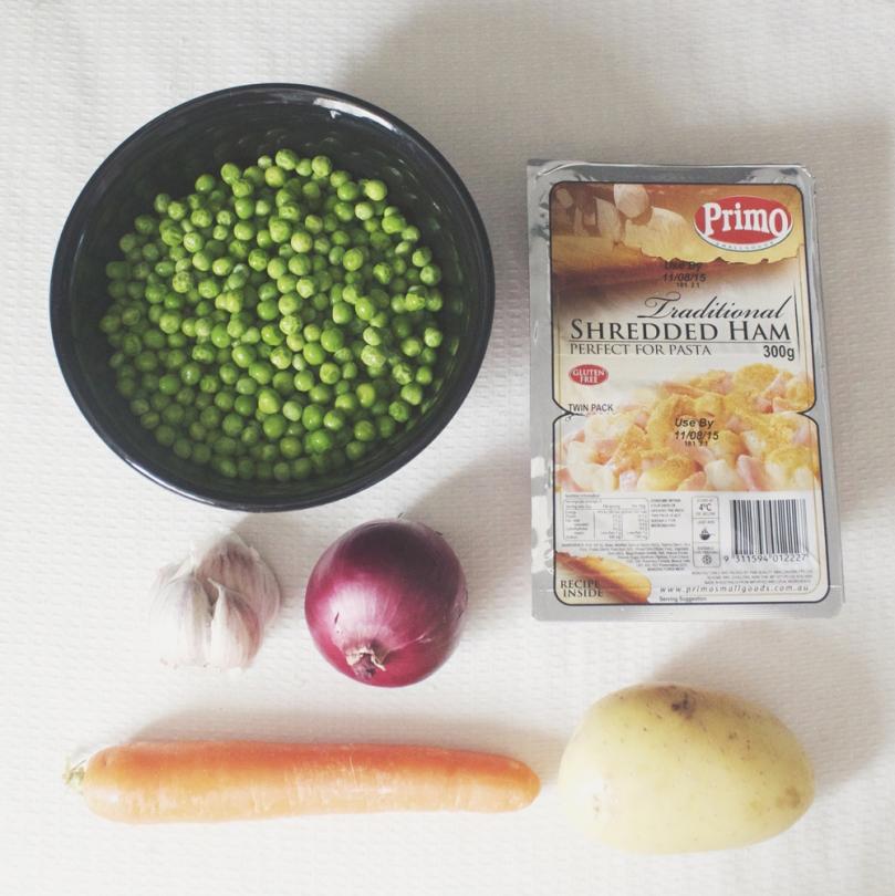 Minty Pea & Ham Soup Ingredients