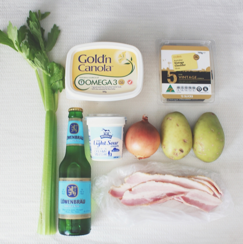 Bacon, Beer & Potato Soup Ingredients