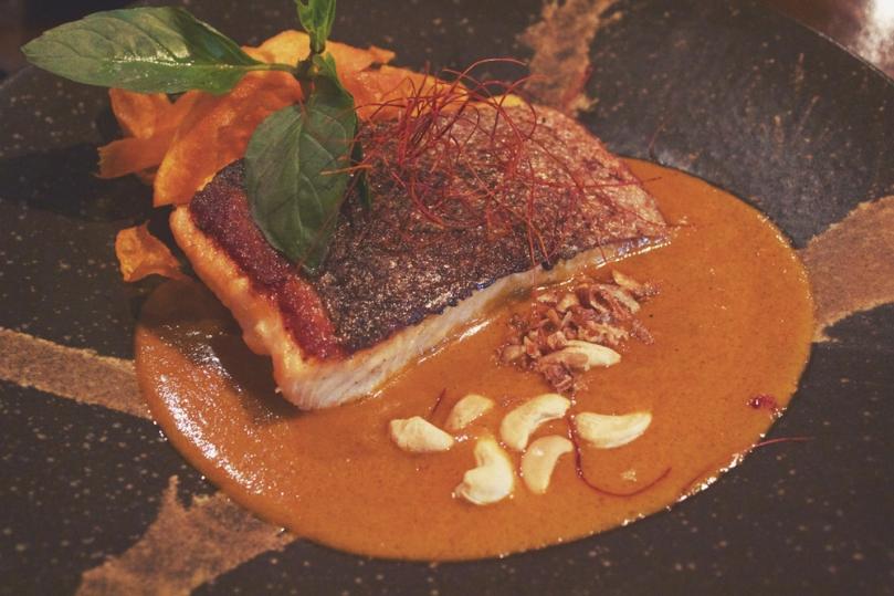 In Asia Restaurant & Bar - MAIN: CRISPY SKIN SALMON