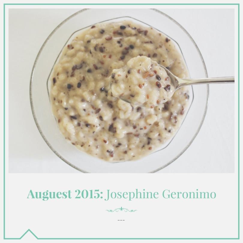Auguest 2015: Josephine Geronimo