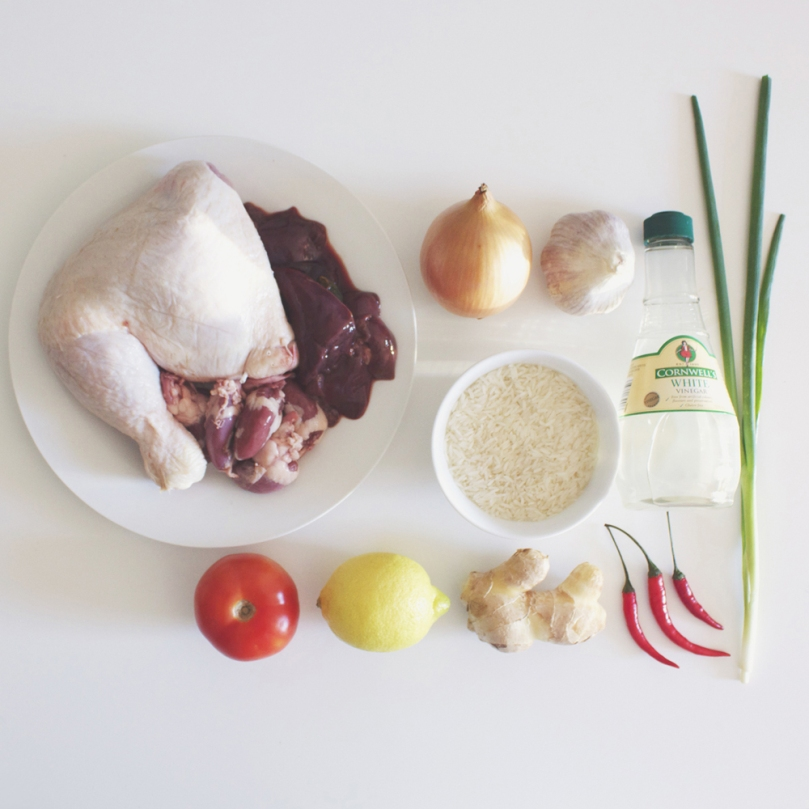 Cơm Gà (Vietnamese Chicken Rice) Ingredients
