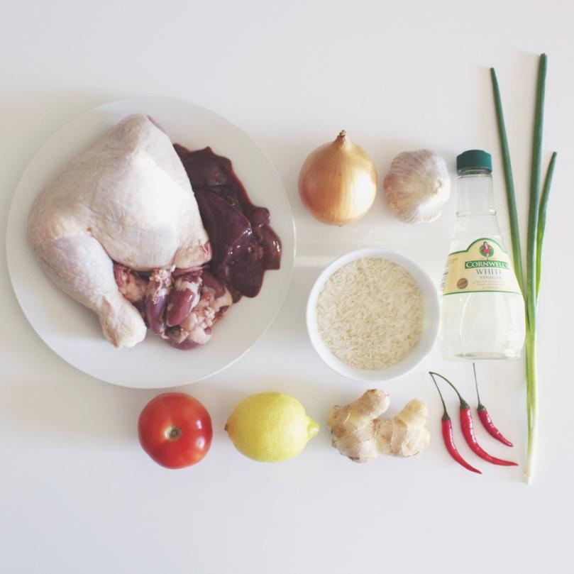 Cơm Gà (Vietnamese Chicken Rice) Ingredients