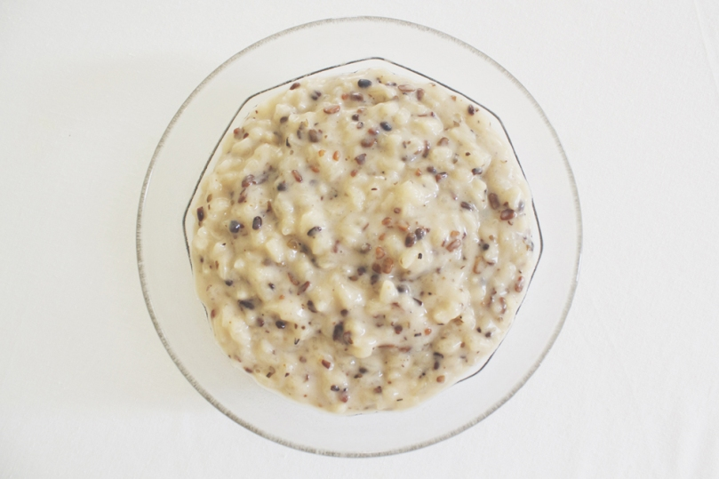 Ginataang Munggo (Roasted Mung Beans & Sticky Rice in Coconut Milk)
