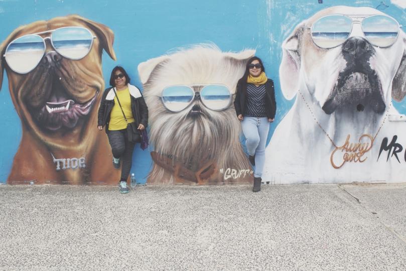 My Mom and I at Bondi Beach, Australia 2015