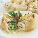 Chicken & Broccoli Alfredo Stuffed Conchiglie