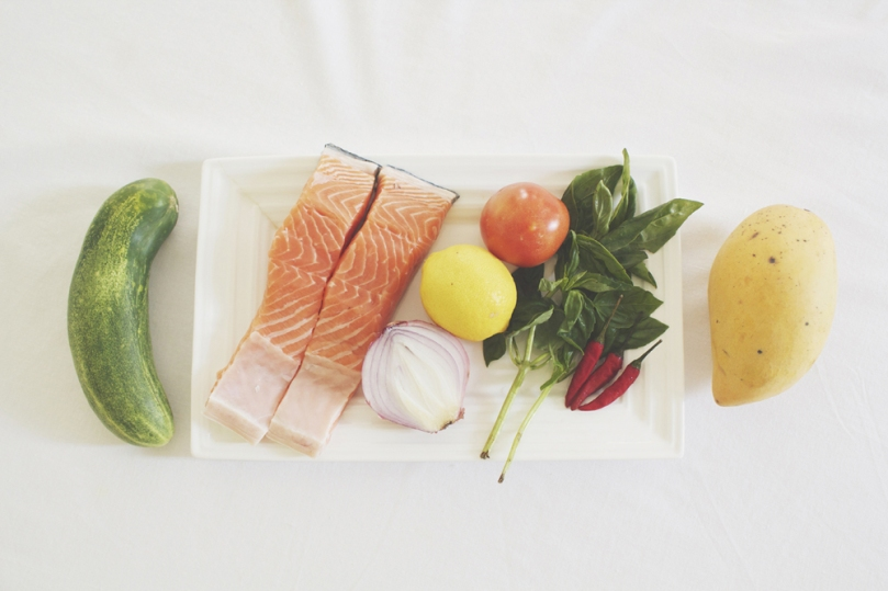Crispy Skinned Salmon with Mango Salsa Ingredients