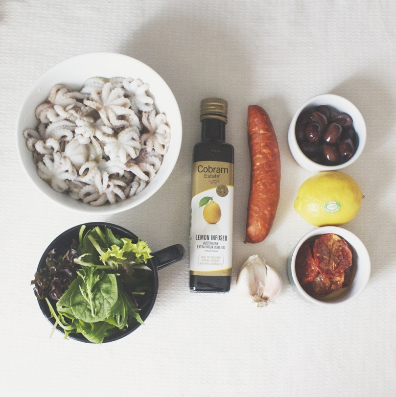 Octopus & Chorizo Salad Ingredients