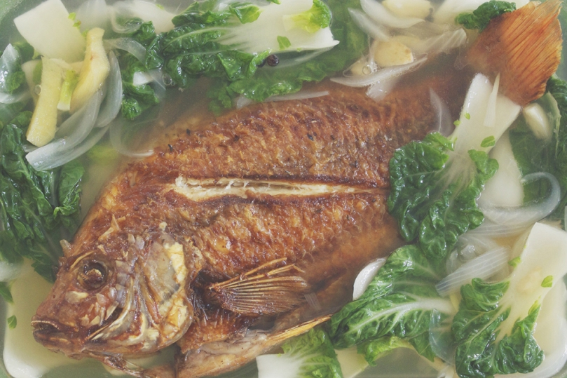 Pesang Tilapia (Tilapia in Ginger Stew)