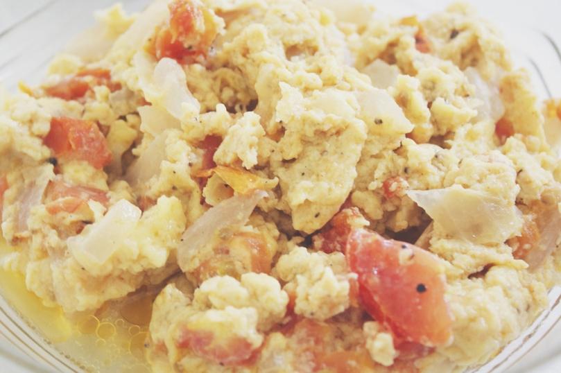 Sautéed Egg for Pesang Tilapia (Tilapia in Ginger Stew)
