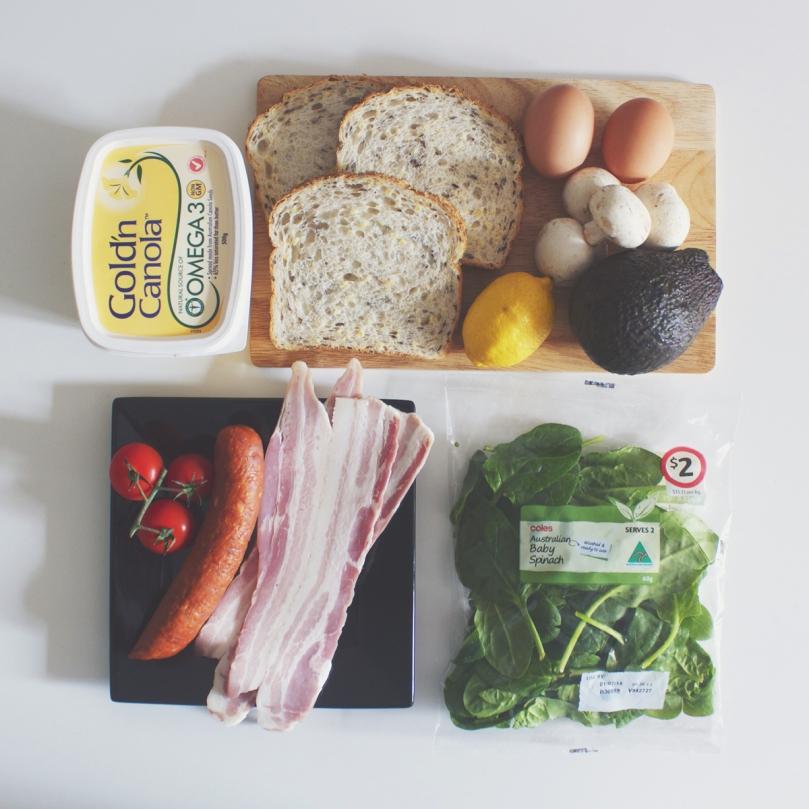 Breakfast Plate Ingredients