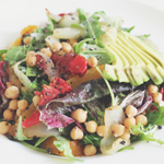 Avocado, Chickpea, & Roasted Cap Salad