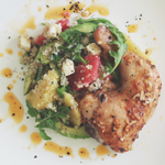 Quinoa, Avocado, & Grapefruit Salad with Lemon & Thyme Roast Chicken Whole Leg