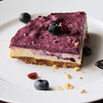 Raw Nutty Orange & Blueberry Vegan 'Cheesecake'
