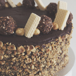 Ferrero Rocher & Nutella Cake with Hazelnuts