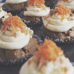 Spiced Carrot Muffins with Cream Cheese Frosting