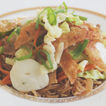 Pancit Bihon Guisado (Filipino Style Stir-Fried Rice Noodles)