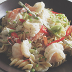 Spirali with Prawns & Coconut Milk