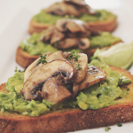Mushroom and Avocado Toastie