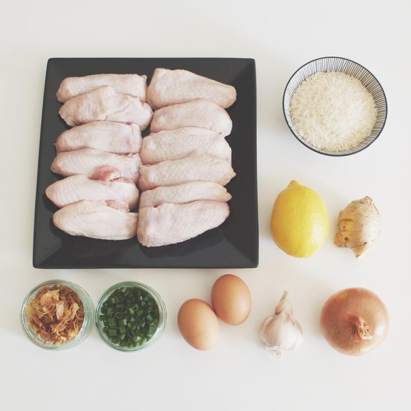 Arroz Caldo (Chicken Rice Porridge) Ingredients