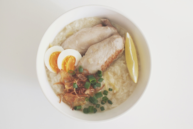 Arroz Caldo (Chicken Rice Porridge)