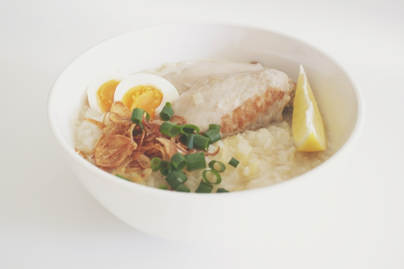 Arroz Caldo (Chicken Rice Porridge)