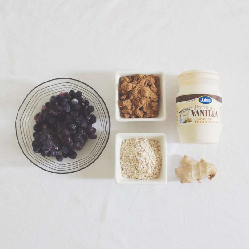 Gingery Berry & Oat Smoothie Ingredients