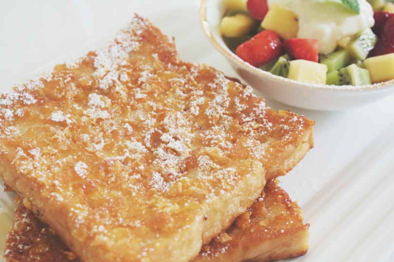 Cornflake-crusted French Toast