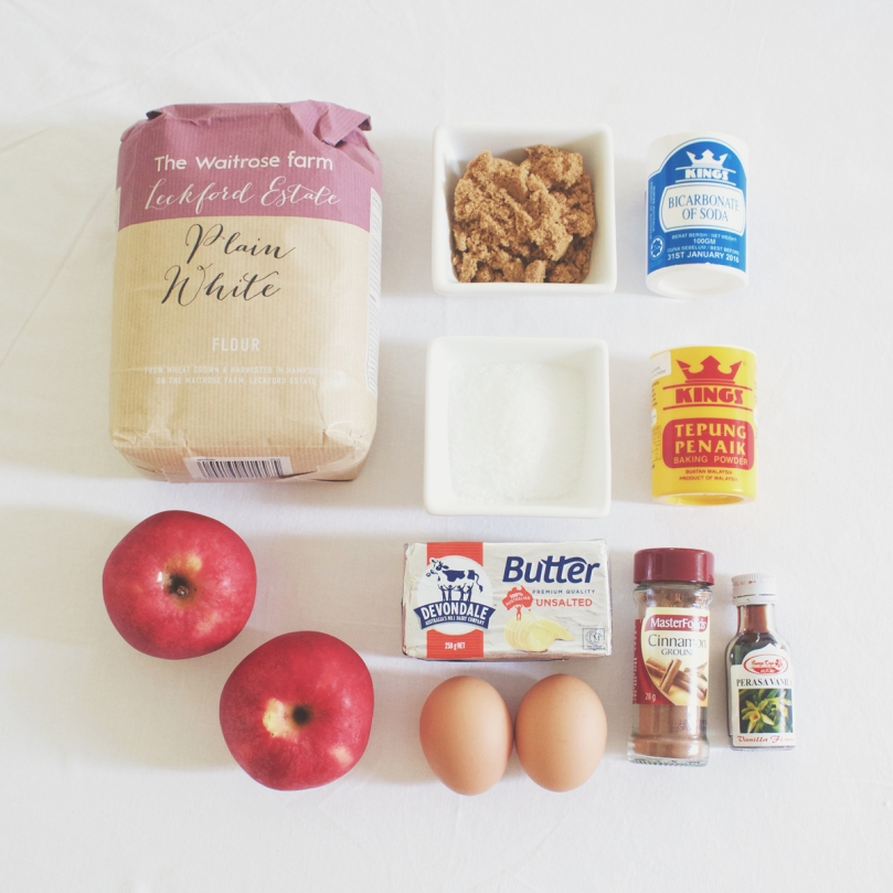 Breakfast Muffins: Apple Strudel Ingredients
