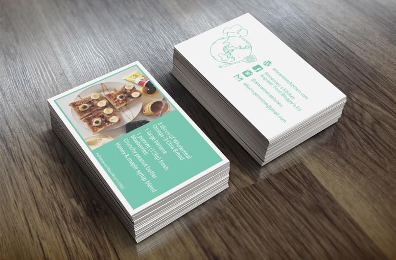 Amcarmen's Kitchen Business Card Mock Up