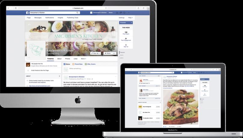 Amcarmen's Kitchen Social Media Facebook