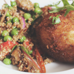 Ampersand: Arancini & Cracked Wheat Salad