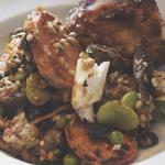 Ampersand: Arancini & Roasted Eggplant and Wheat Salad