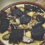Devon By Night: Chinese Egg Custard, Shiitake, Fungus, Yellow Needle Flower, Chinese Fried Bread and Perigord Black Truffle
