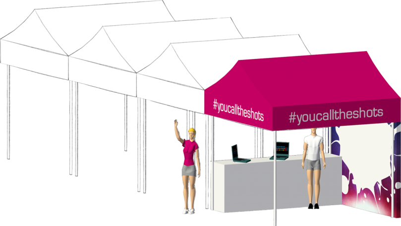 #youcalltheshots Event Booth
