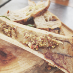 Meat District Co.: Roasted bone marrow with garlic, parsley, mustard seeds, chilli, served with bread