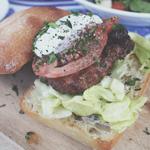 Rustic Pearl: Char grilled Mediterranean Lamb Burger