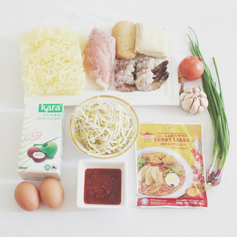 Malaysian Curry Laksa (Spicy Noodle Soup) Ingredients