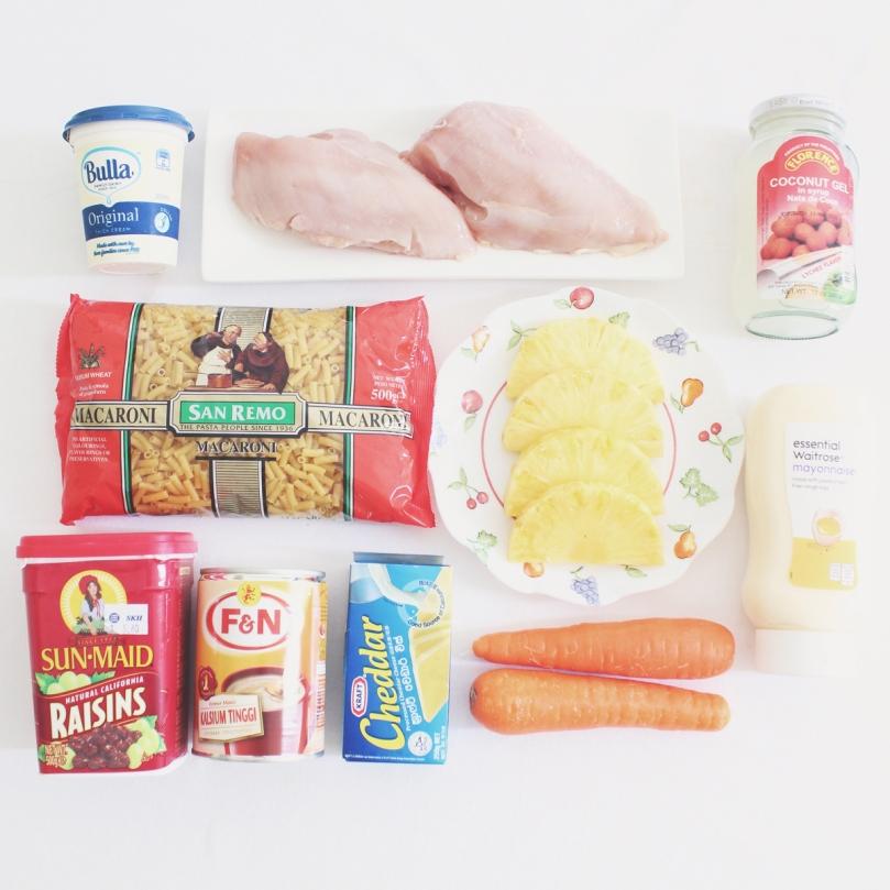Filipino-style Chicken Macaroni Salad Ingredients