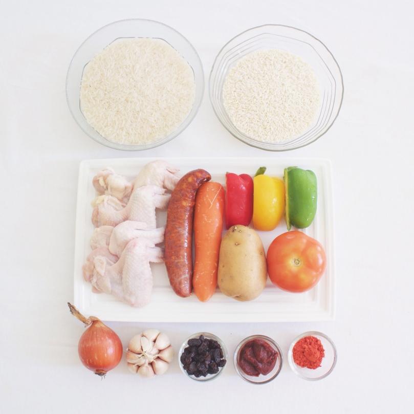 Arroz a la Valenciana (Valencian Rice) Ingredients