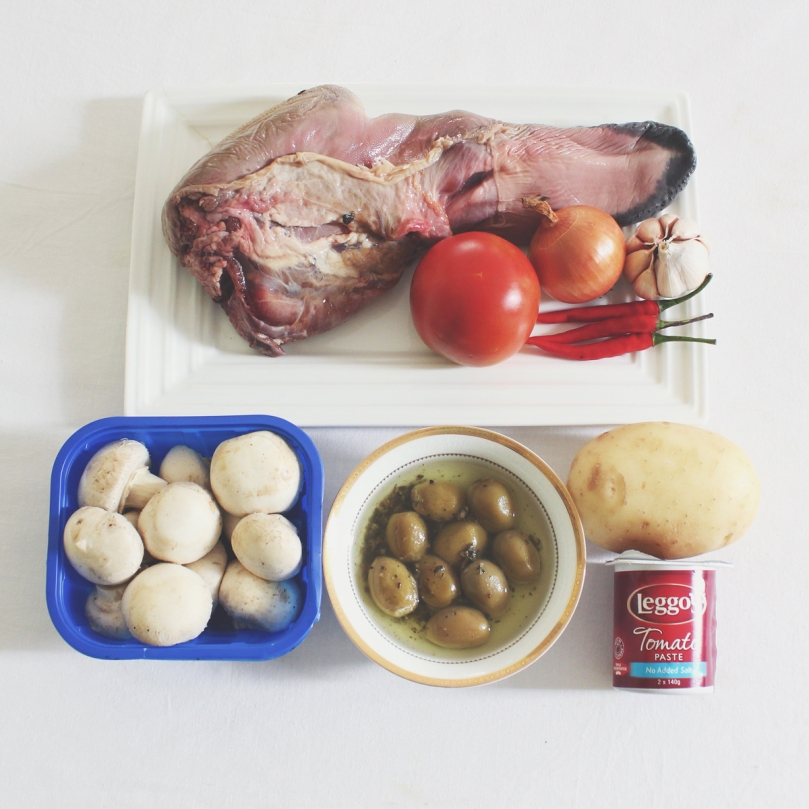 Lengua Estofado (Ox Tongue Braised in Tomato Sauce) Ingredients