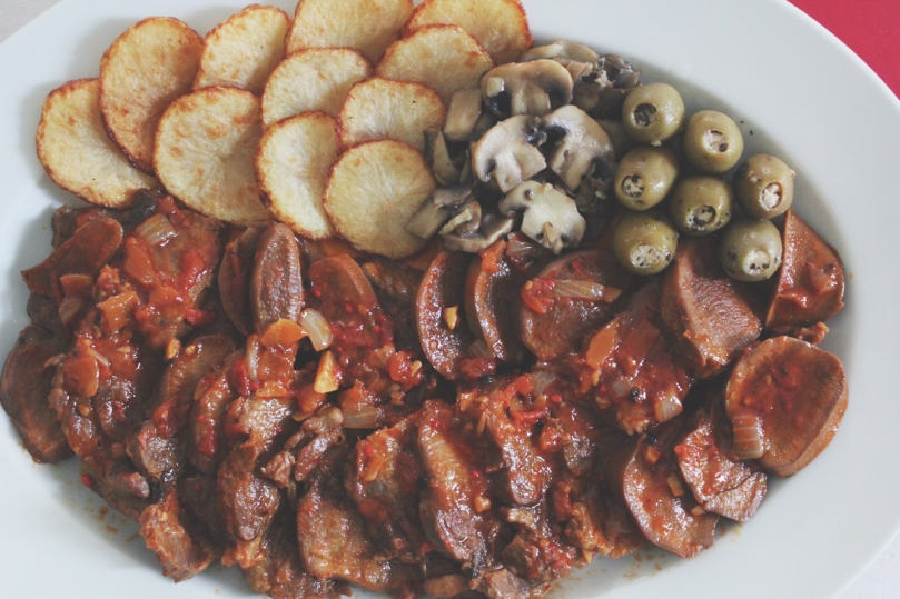 Lengua Estofado (Ox Tongue Braised in Tomato Sauce)