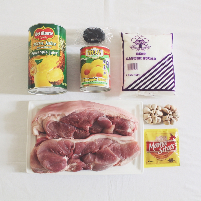 Hamonado (Pork Rolls Stewed in Pineapple Juice) Ingredients