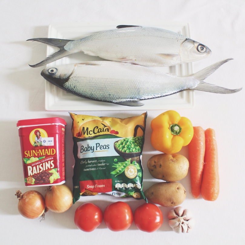 Rellenong Bangus (Stuffed Milkfish) Ingredients