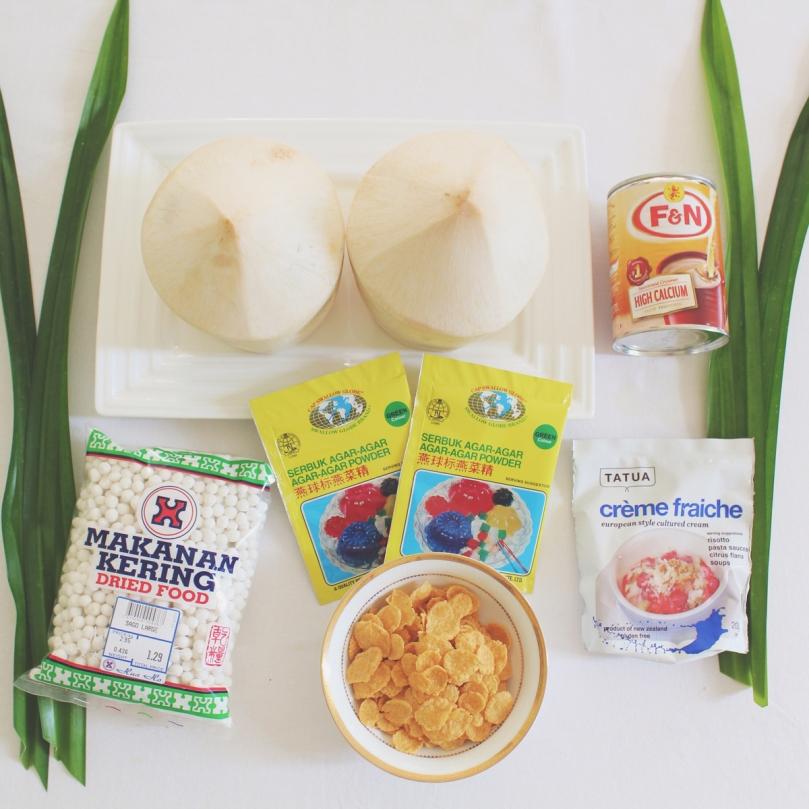 Buko Pandan Ingredients
