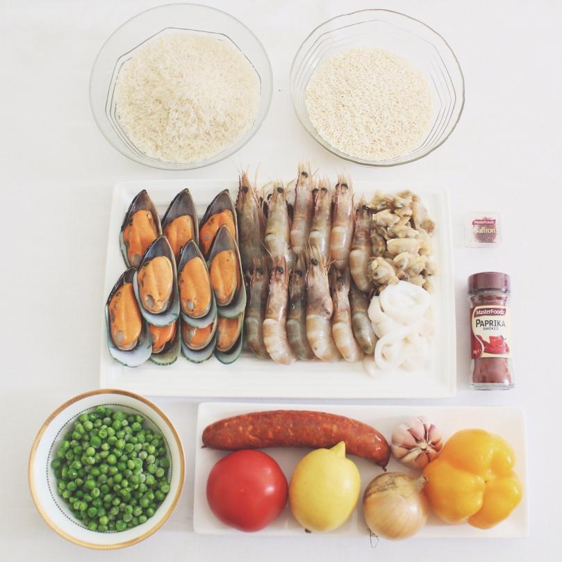 Paella de Marisco (Seafood Paella) Ingredients