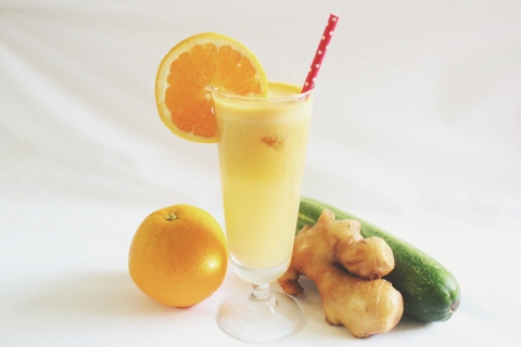 Orange + Ginger + Cucumber Juice