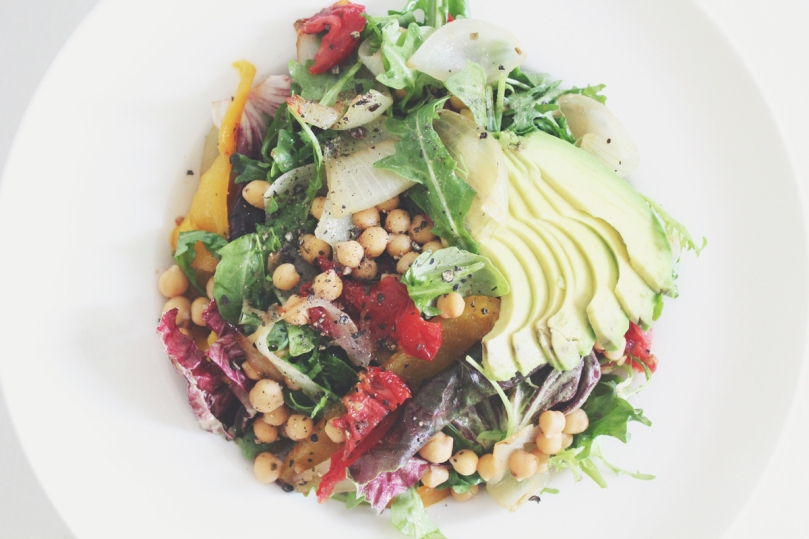 Avocado, Chickpea, & Roasted Capsicum Salad
