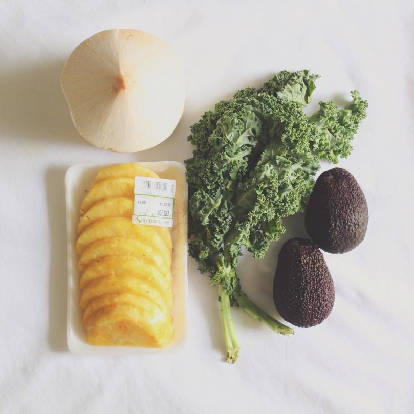 Kale Piña-Cavado Ingredients